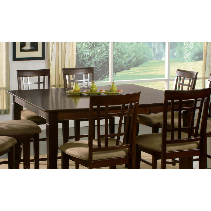Dining Table With Three Extension Leaves And Six Matching: Shaker 54 X 54 Dining Table W/ Butterfly Leaf Extension