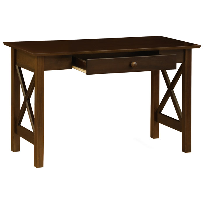 Lexington Single Drawer Writing Desk with X Side Panels - ATL-AH1223