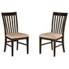 Shaker 5 Piece Dining Set w/ Mission Slat Back Chairs - ATL-SH48X36SDT5PC