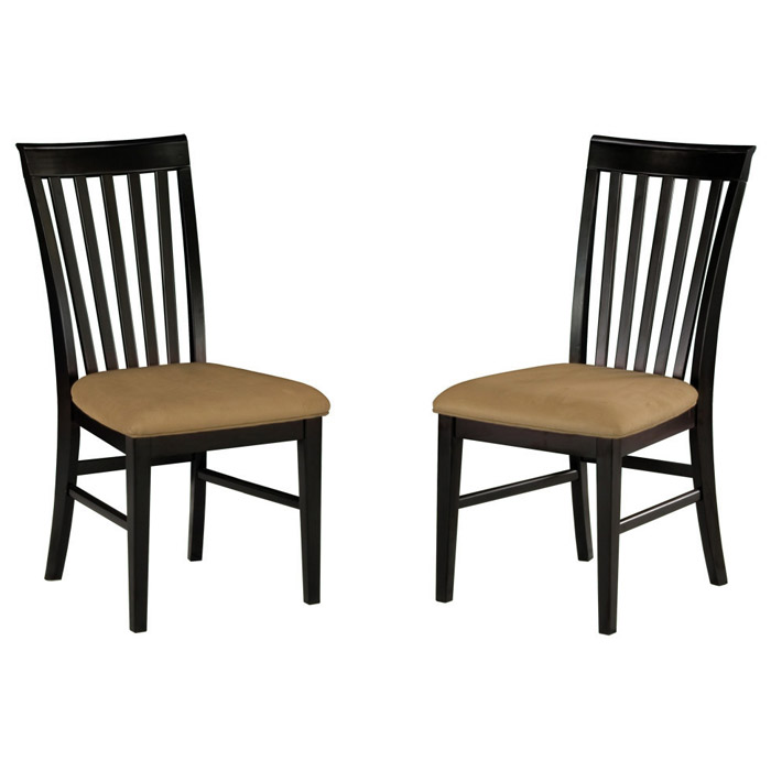 ... Deco 5 Piece Modern Dining Set W/ Slat Back Chairs   ATL DE48X36SDT5PC  ...
