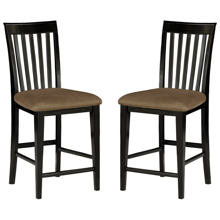 "Mission 25.5"" Pub Chair - Slat Back, Cappuccino Seat - ATL-AD77123"