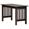 Mission Work Table with Slat Panels - ATL-AH1121