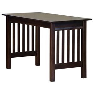 Mission Work Table with Slat Panels