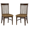 Montreal Slatted Dining Chair w/ Cappuccino Fabric Seat - ATL-AD77413
