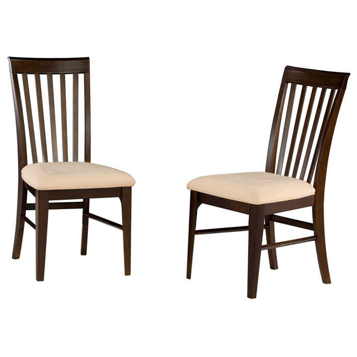 Furniture Montreal: Montreal Slatted Dining Chair W/ Oatmeal Fabric Seat