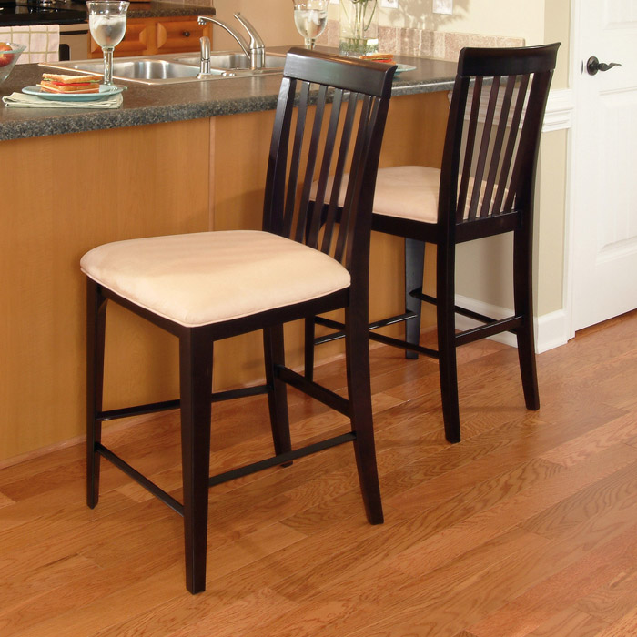 Montreal 25 5 Pub Chairs Slat Back Oatmeal Seat Dcg Stores