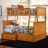 Nantucket Twin Over Full Bunk Bed w/ Drawers - Flat Panel - ATL-AB5921