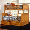Nantucket Twin Over Full Bunk Bed w/ Drawers - Raised Panel - ATL-AB5922