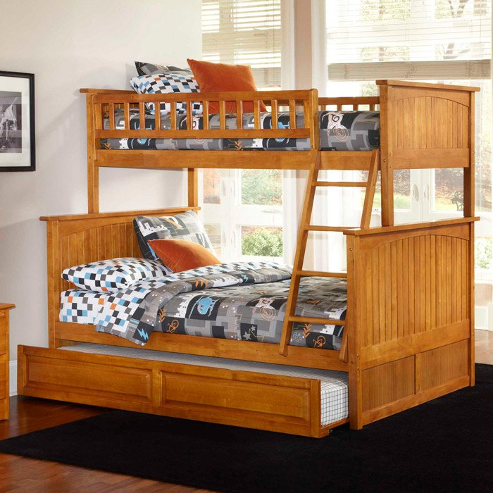 Nantucket Cottage Style Bunk Bed And Trundle Twin Over