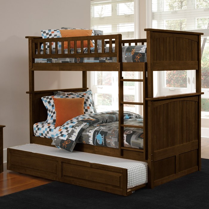 Game Room Bars: Nantucket Cottage Style Bunk Bed And Trundle - Twin