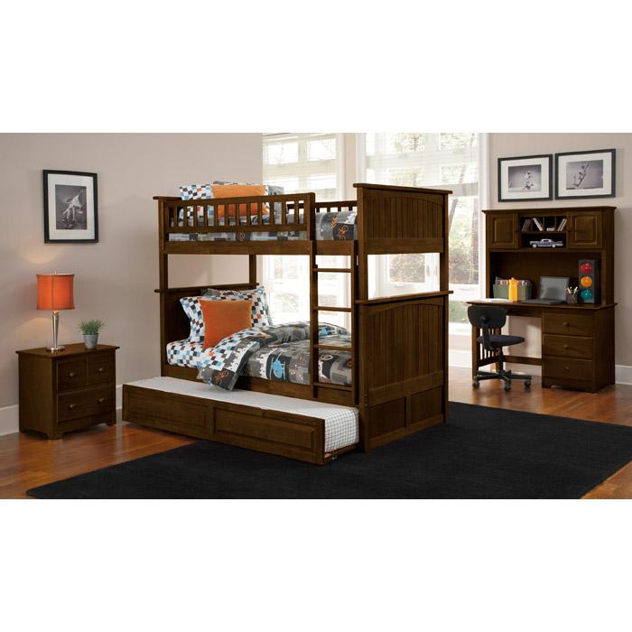 Bedroom Interior Design For Kids Bedroom Settee Bench Bedroom Room Colors Video Game Bedroom Decor: Nantucket Cottage Style Bunk Bed And Trundle - Twin