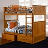 Nantucket Twin Size Bunk Bed w/ Drawers - Flat Panel - ATL-AB5911