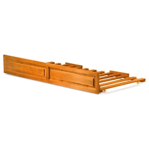 Twin Raised Panel Trundle Bed on Casters
