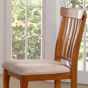 Venetian Dining Chair w/ Microfiber Seat in Oatmeal