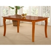 Venetian 60 x 36 Solid Top Dining Table w/ Curved Legs - ATL-VE60X36SDT