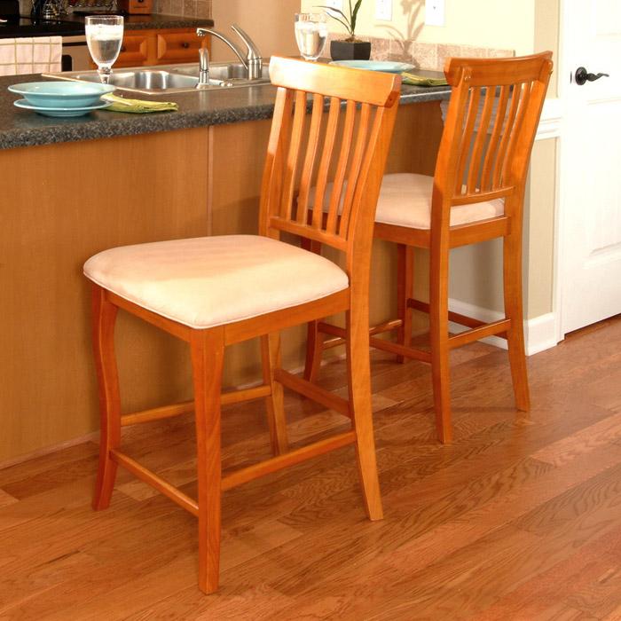 Venetian Slat Back Pub Chair W Oatmeal Seat Dcg Stores