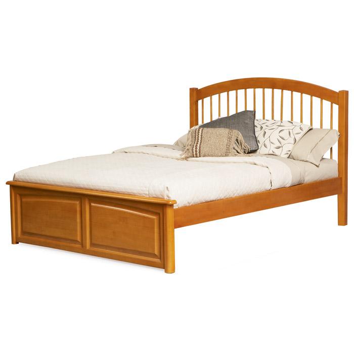 Windsor platform bed w raised panel footboard dcg stores for Raised platform bed