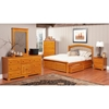 Windsor Platform Bed w/ Raised Panel Footboard - ATL-WPBRPF