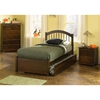 Windsor Twin Bed w/ Flat Panel Footboard and Trundle - ATL-WTWBFPTR