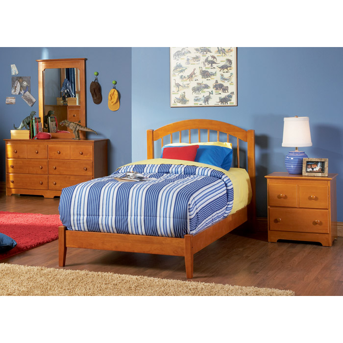 Windsor Arch Spindle Headboard in Caramel Latte - ATL-P-948X7