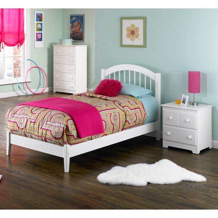 Windsor Arch Spindle Headboard in White - ATL-P-948X2