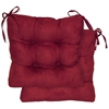Square Chair Cushion - Tufted, Ties, Microsuede (Set of 2) - BLZ-916X16SQ-T-2CH-MS