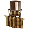 Square Outdoor Chair Cushion - Tufted, Ties, Patterned (Set of 4) - BLZ-916X16SQ-T-4CH-REO