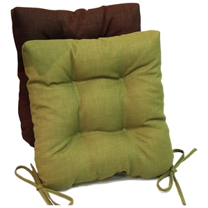 Square Outdoor Chair Cushion - Tufted, Ties, Solid (Set of 2)