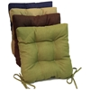 Square Outdoor Chair Cushion - Tufted, Ties, Solid (Set of 4) - BLZ-916X16SQ-T-4CH-REO-S