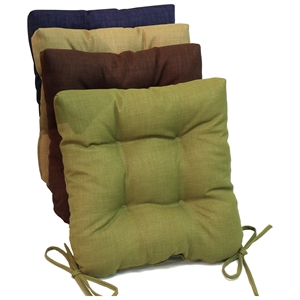 Square Outdoor Chair Cushion - Tufted, Ties, Solid (Set of 4)