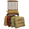 U-Shaped Chair Cushion - Tufted, Ties, Microsuede (Set of 4) - BLZ-916X16US-T-4CH-MS