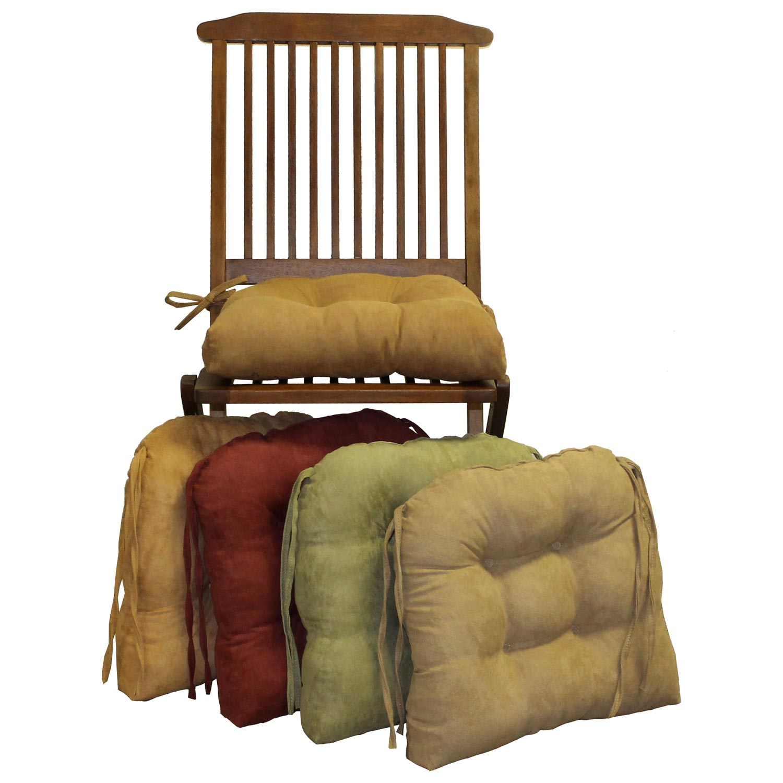 U Shaped Chair Cushion Tufted Ties Microsuede Set Of