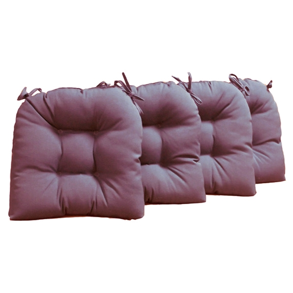 U Shaped Chair Cushion   Tufted, Ties, Twill (Set Of 4) ...