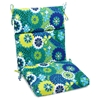 "3-Section 19"" x 42"" Patio Chair Cushion - Ties, Patterned Fabric - BLZ-919X42-REO"