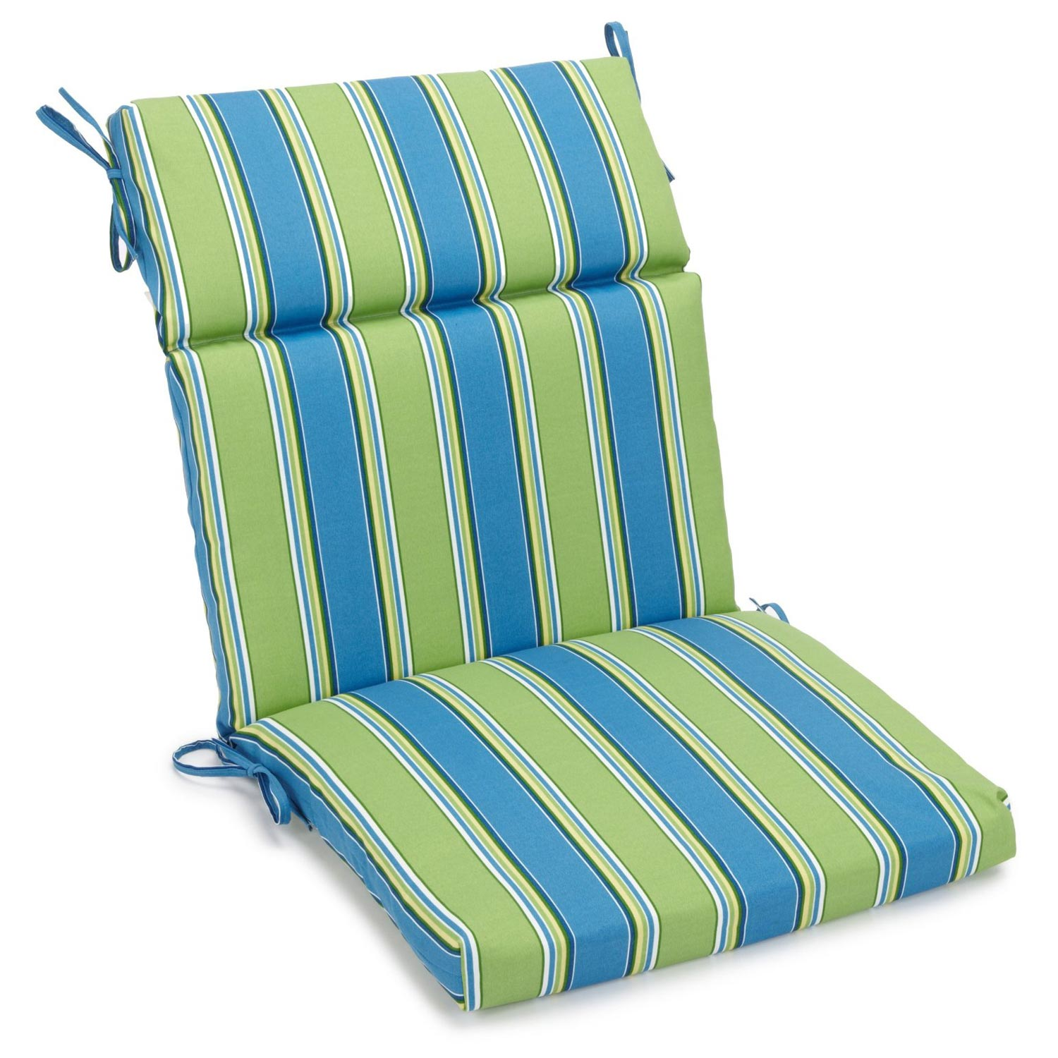 3 section 22quot x 45quot patio chair cushion ties patterned for Outdoor furniture cushion cover material