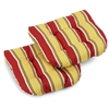 U-Shaped Patio Chair Cushion - All-Weather, Patterned (Set of 2) - BLZ-93180-2CH-REO