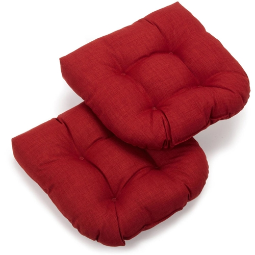 U Shaped Patio Chair Cushion All Weather Solid Color