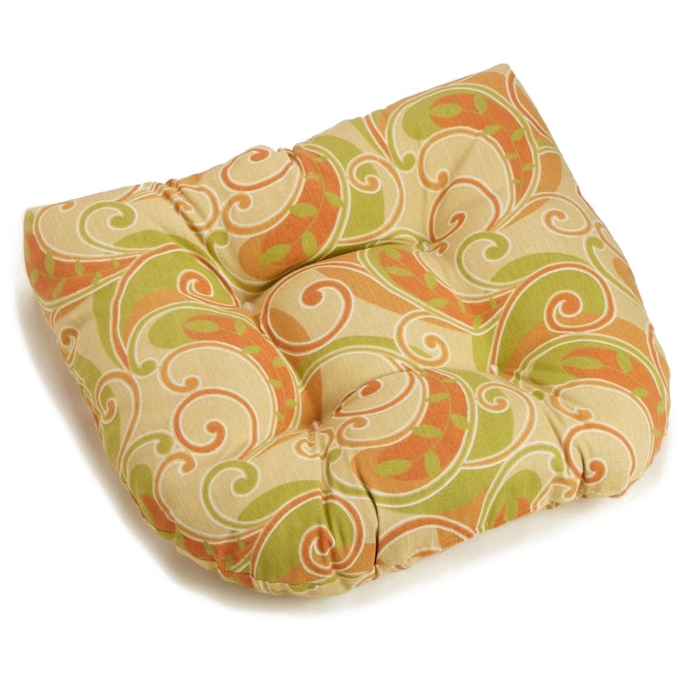 U-Shaped Patio Chair / Rocker Chair Cushion - Patterned Fabric - BLZ-93182-REO