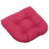 U-Shaped Patio Chair / Rocker Chair Cushion - Solid Color Fabric - BLZ-93182-REO-S