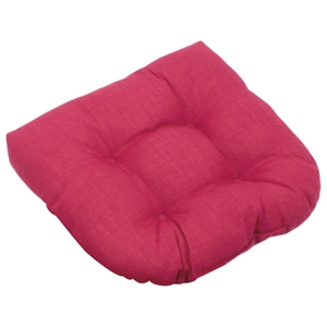 U-Shaped Patio Chair / Rocker Chair Cushion - Solid Color Fabric