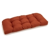U-Shaped Patio Swing Cushion - Tufted, Solid Color Fabric - BLZ-93183-REO-S