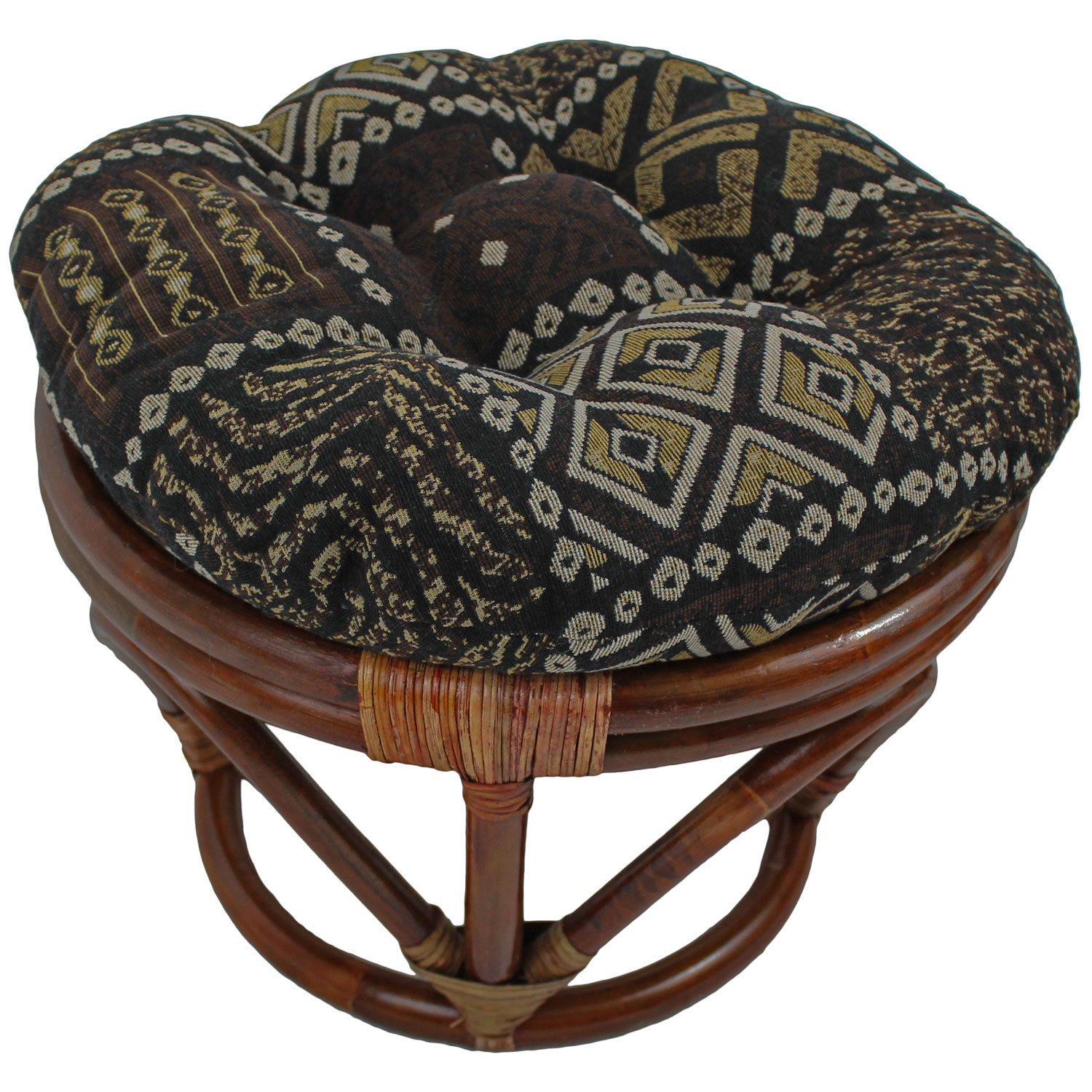 Tapestry Fabric 18 Inch Tufted Ottoman Cushion Dcg Stores