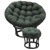 52 Inch Microsuede Tufted Papasan Cushion - BLZ-93302-52-MS