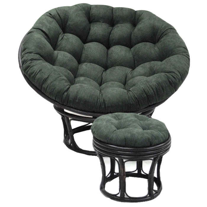 52 inch microsuede tufted papasan cushion dcg stores. Black Bedroom Furniture Sets. Home Design Ideas