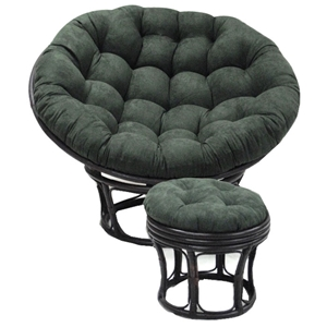 52 Inch Microsuede Tufted Papasan Cushion