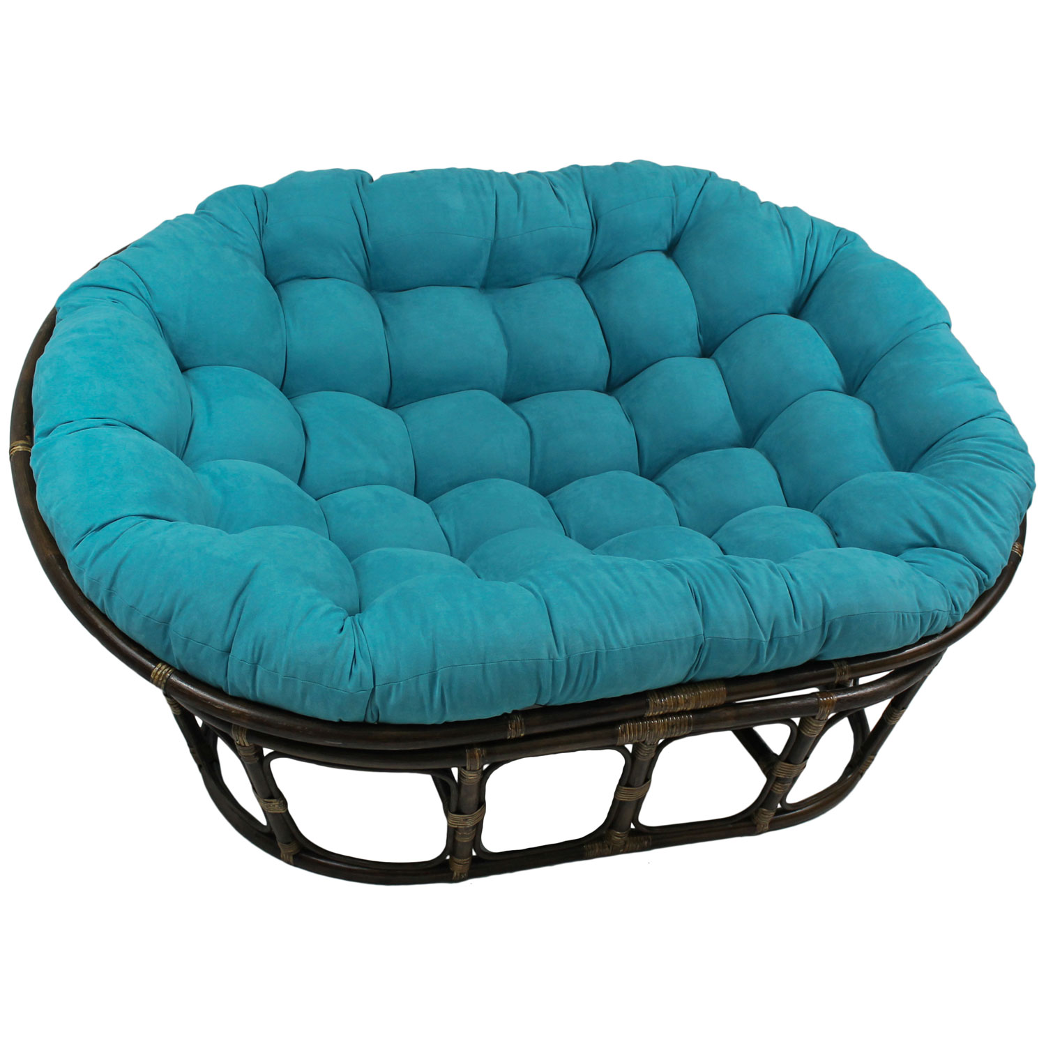 "78"" x 58"" Oversized Double Papasan Cushion - Tufted, Microsuede - BLZ-93304-OV-MS"