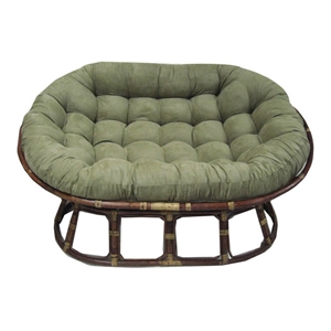 60%27%27 x 48%27%27 Microsuede Tufted Double Papasan Cushion