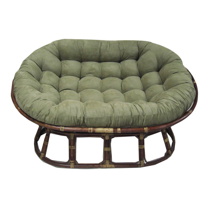 60 x 48 Microsuede Tufted Double Papasan Cushion  DCG St...