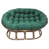 "78"" x 58"" Oversized Double Papasan Cushion - Tufted, Twill Fabric - BLZ-93304-OV-SOL"