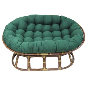 "78"" x 58"" Oversized Double Papasan Cushion - Tufted, Twill Fabric"